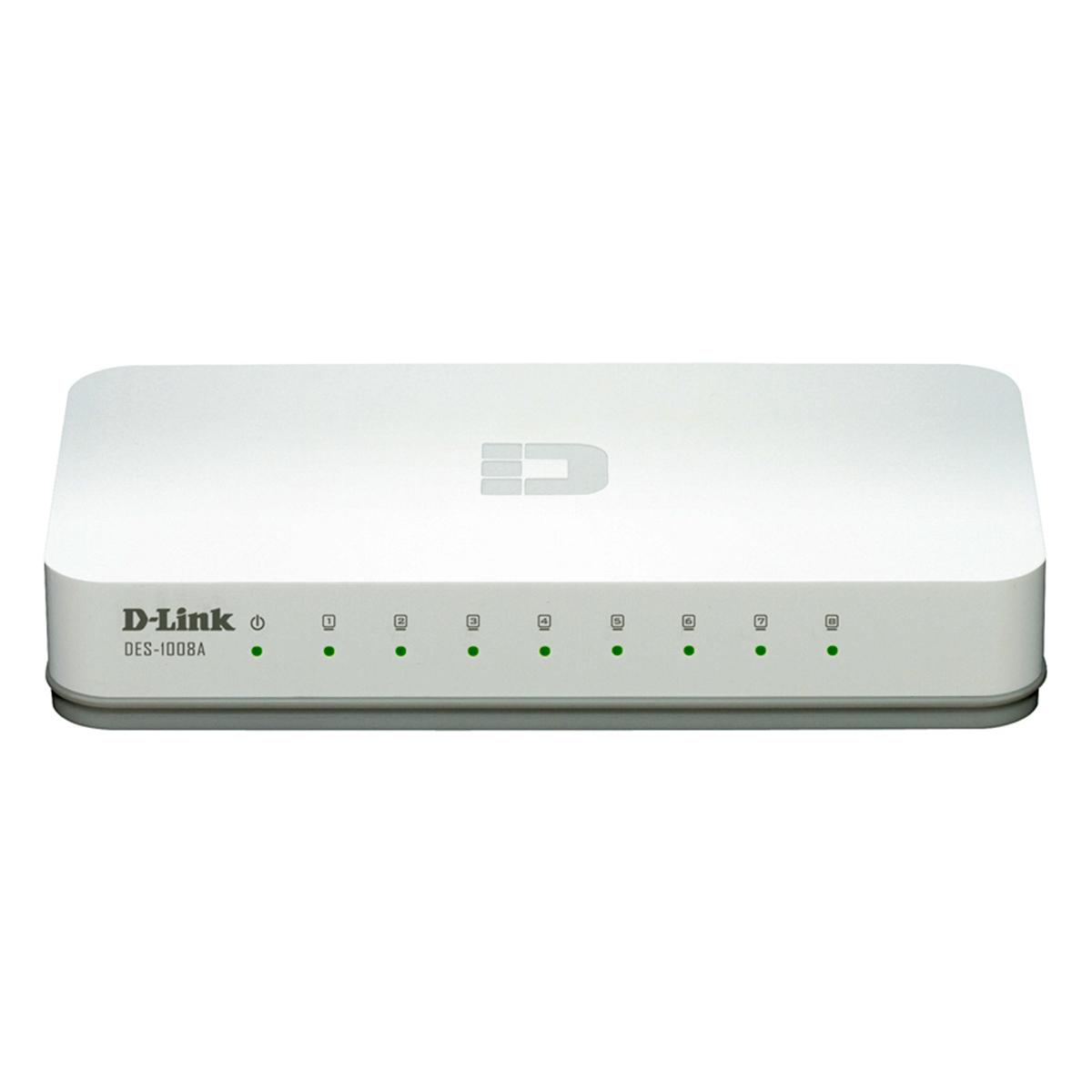 Switch 8 Portas 10/100 Mbps DES 1008 A - D-Link