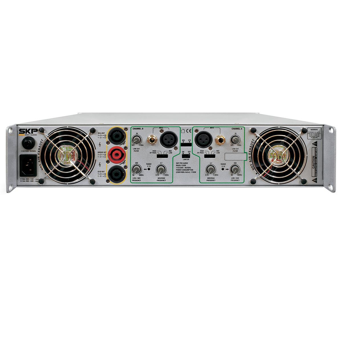 MAXG1220X - Amplificador Estéreo 2 Canais 1200W MAXG 1220X - SKP