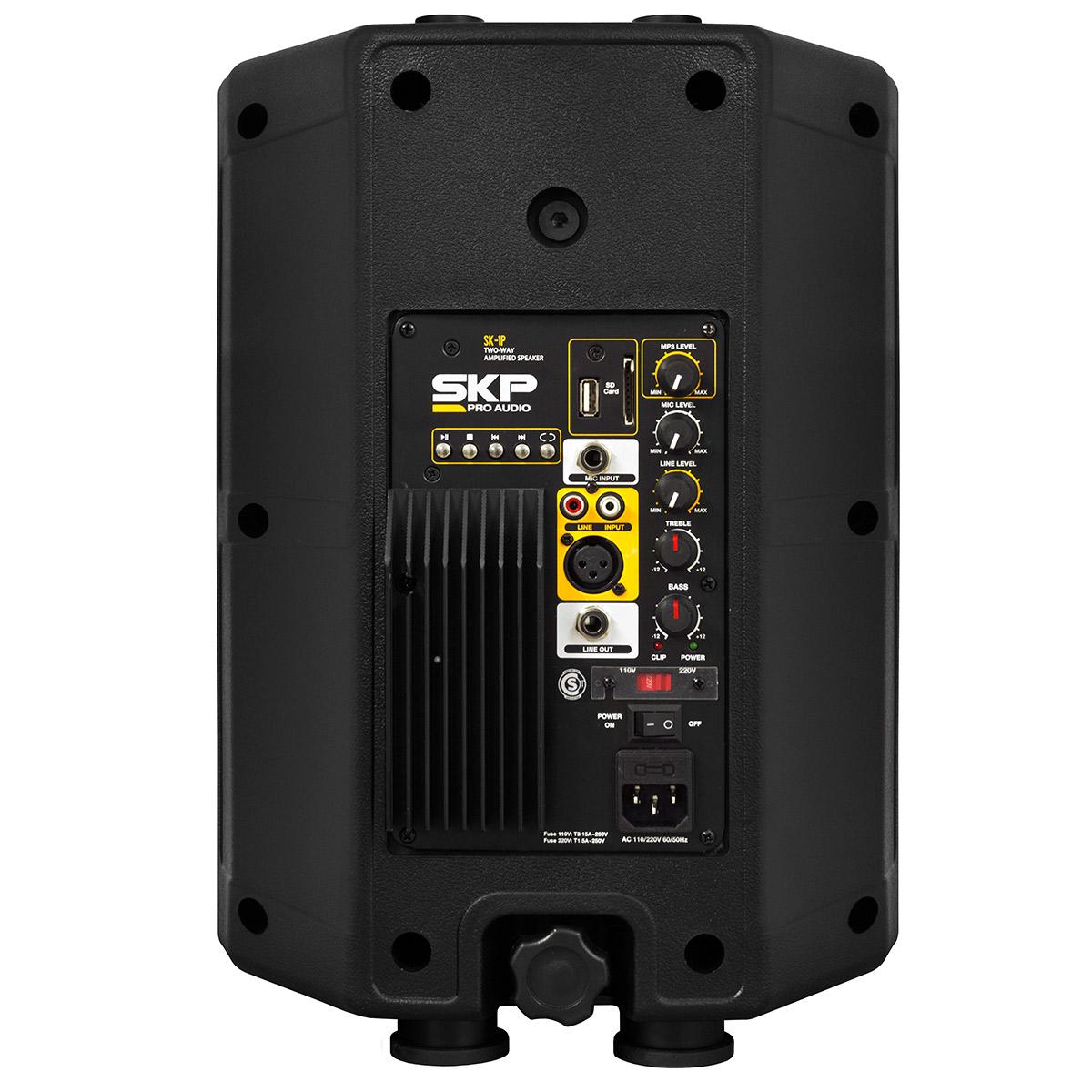 SK1P - Caixa Ativa 100W c/ Player USB Preta SK 1P - SKP