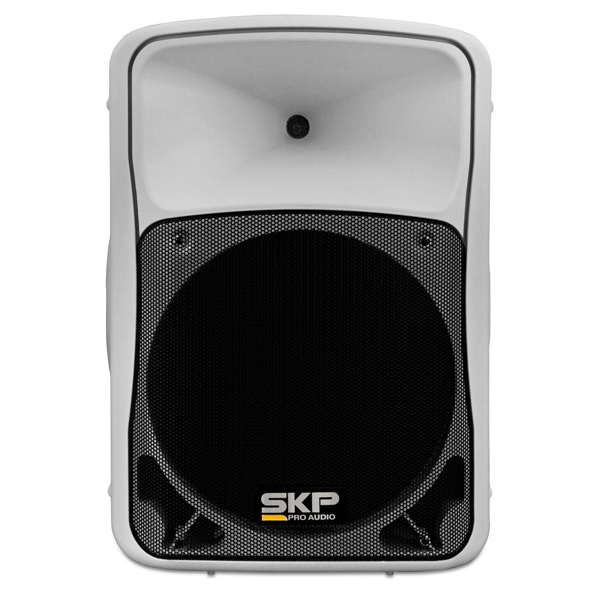 SK3P - Caixa Ativa 200W c/ Player USB Branca SK 3P - SKP