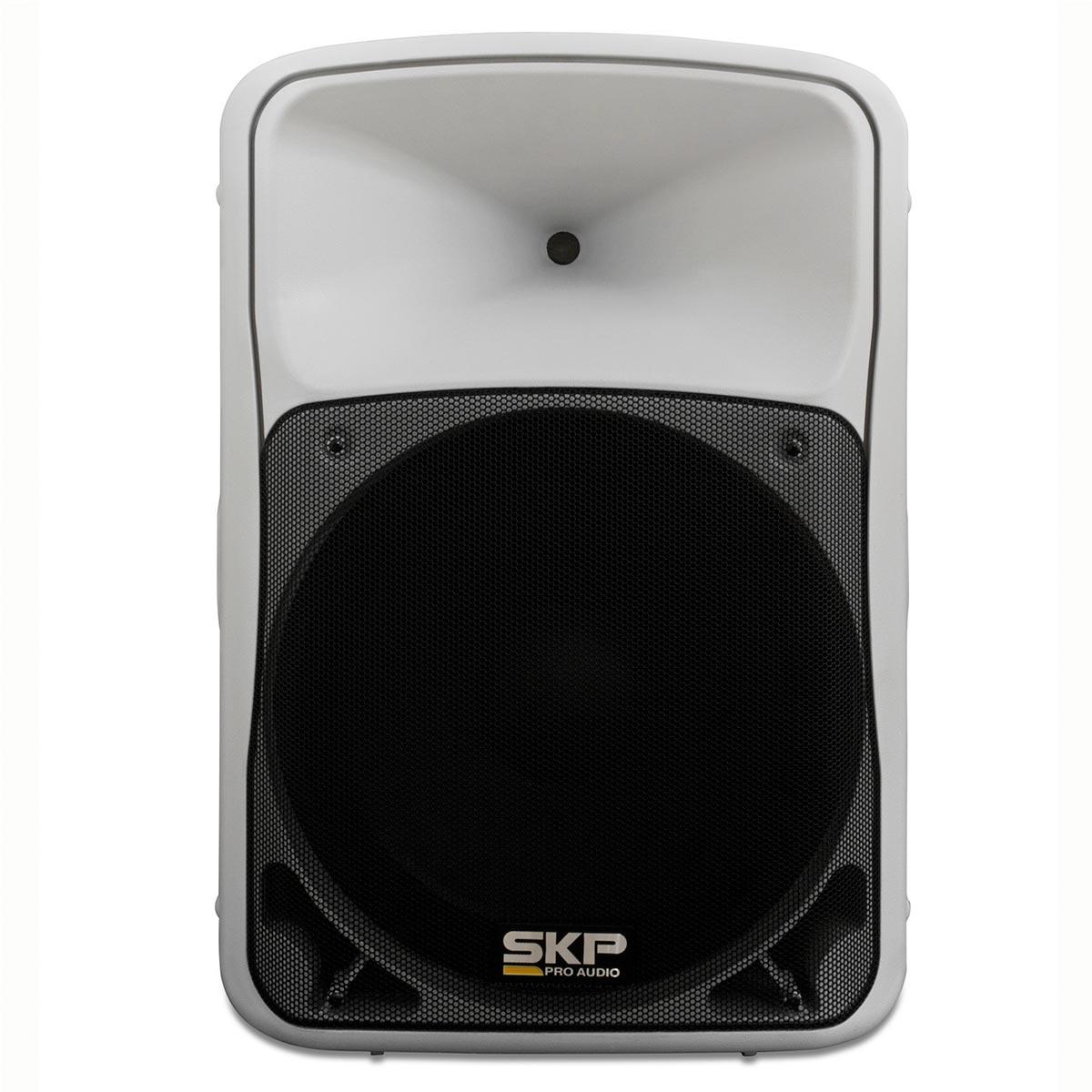 SK5PBT - Caixa Ativa 250W c/ Bluetooth e USB Branca SK 5P BT - SKP