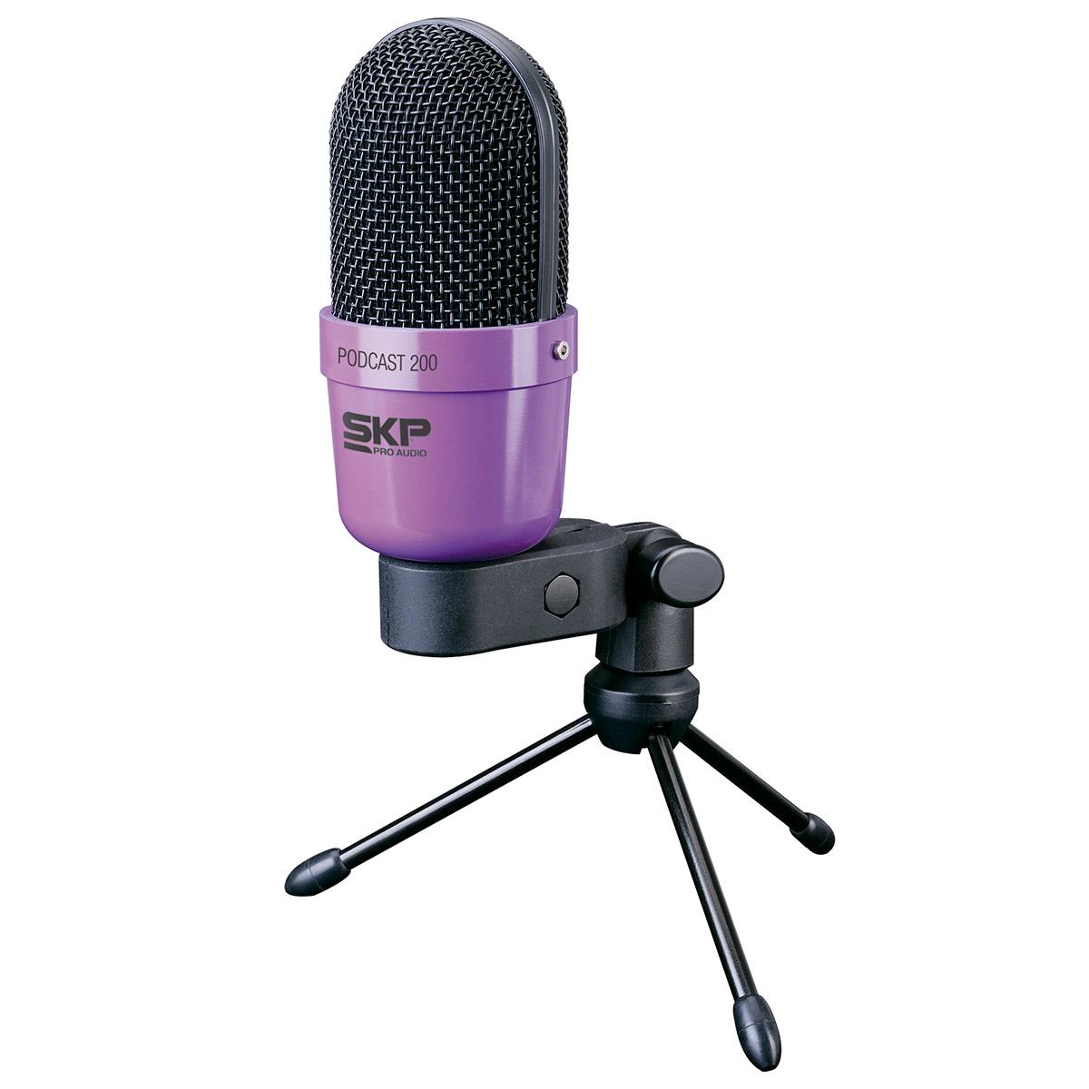 Podcast200 - Microfone c/ Fio p/ Estúdio P2 Podcast 200 - SKP