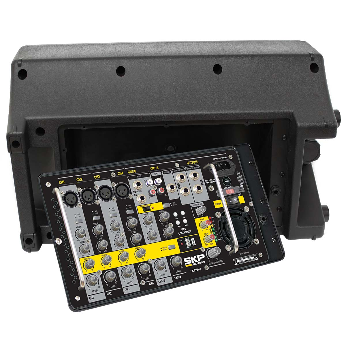 SK210MA - Kit Portátil c/ Mixer e 2 Caixas SK 210MA - SKP