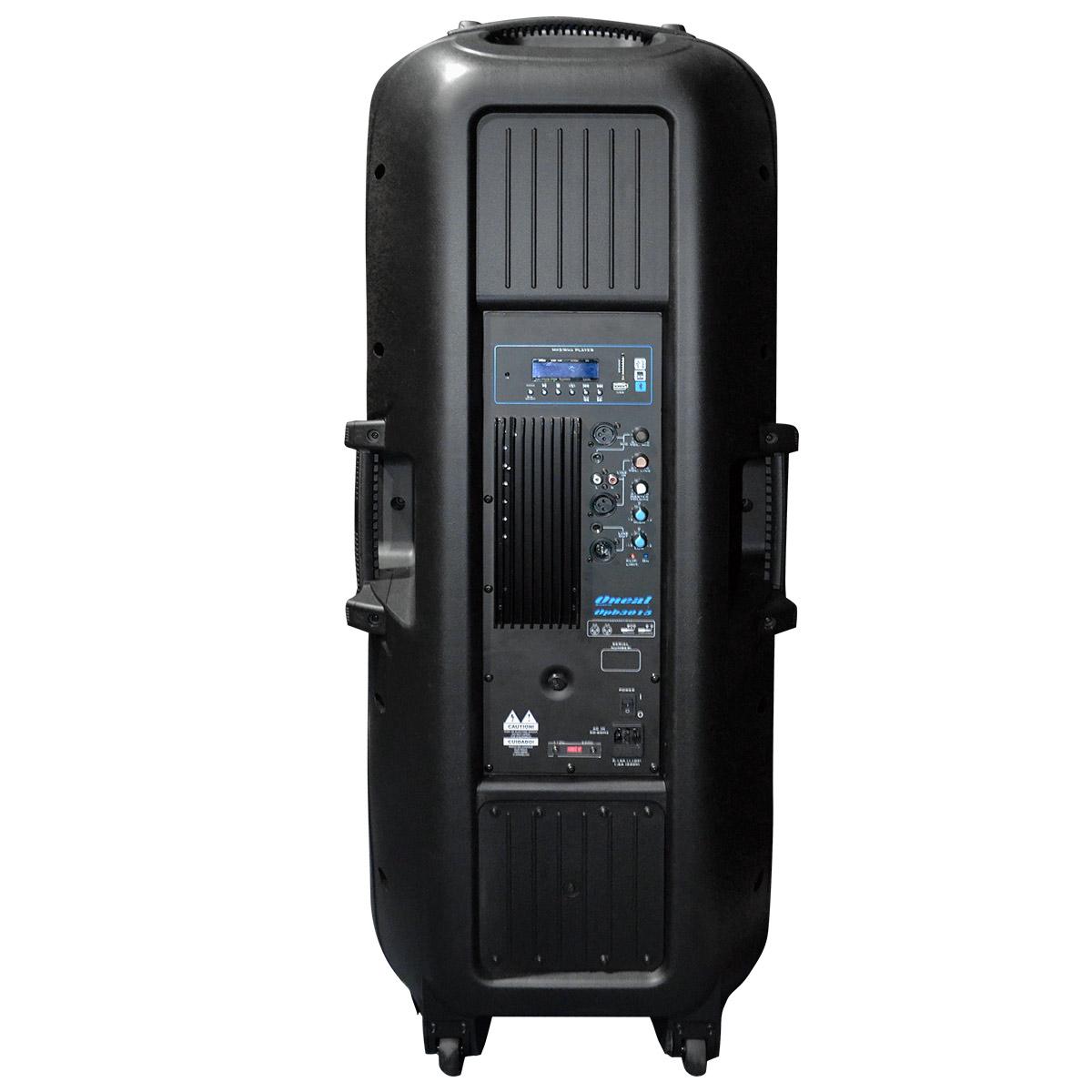 Caixa Ativa Fal 2x15 Pol 350W c/ USB / Bluetooth - OPB 3015 Oneal