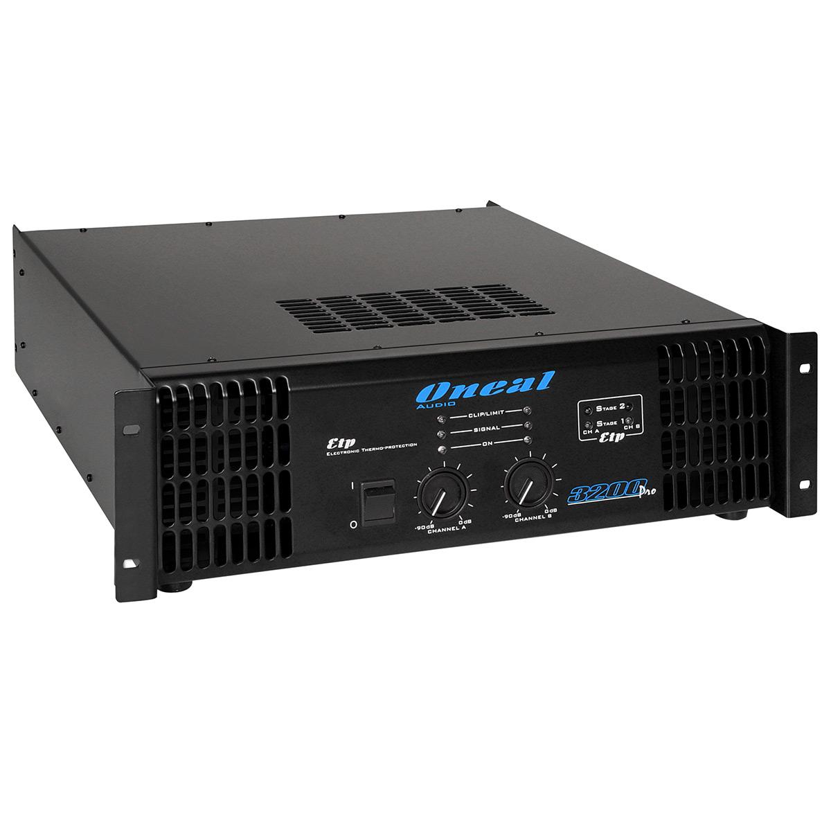 Amplificador Estéreo 2 Canais 3200W ( 2 Ohms ) 3200 PRO - Oneal