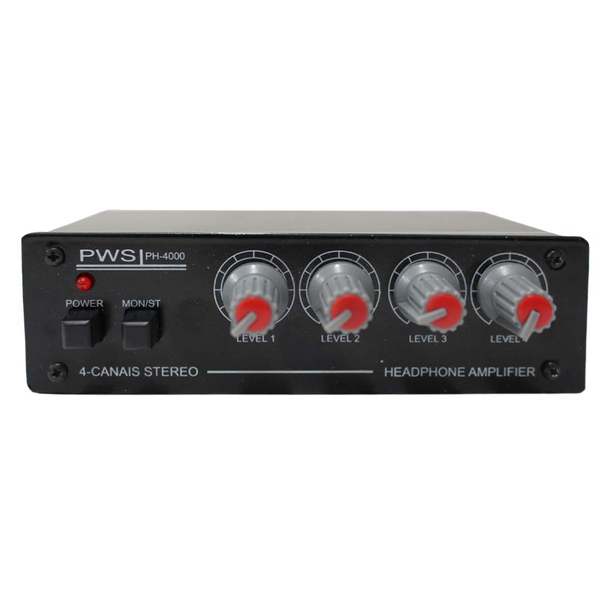 PH4000 - Amplificador para 4 Fones PH 4000 - PWS