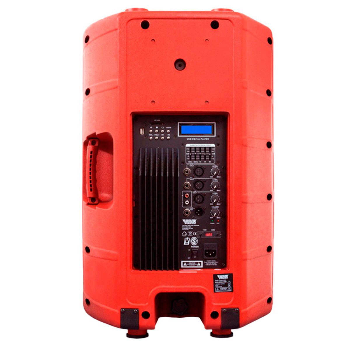 EVO350AUSB - Caixa Ativa 350W c/ USB EVO 350 A USB Vermelha - Novik Neo