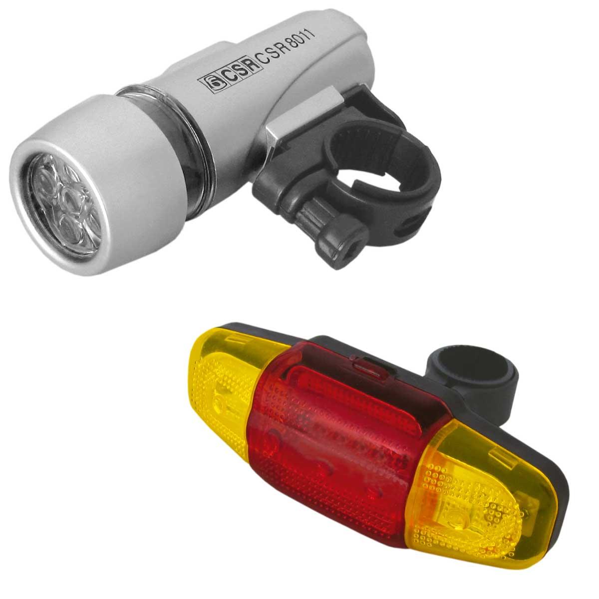 HX8011 - Kit de Lanternas para Bicicleta 5 LEDs HX 8011 - CSR