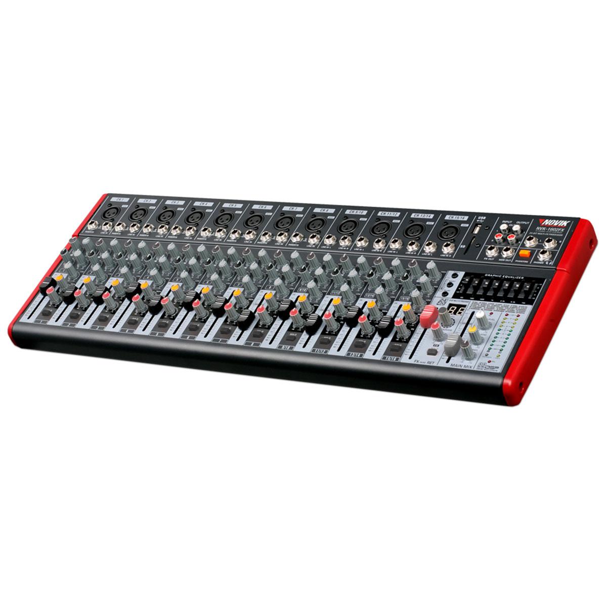 NVK1602FX - Mesa de Som / Mixer 16 Canais USB 110V NVK 1602 FX - Novik Neo