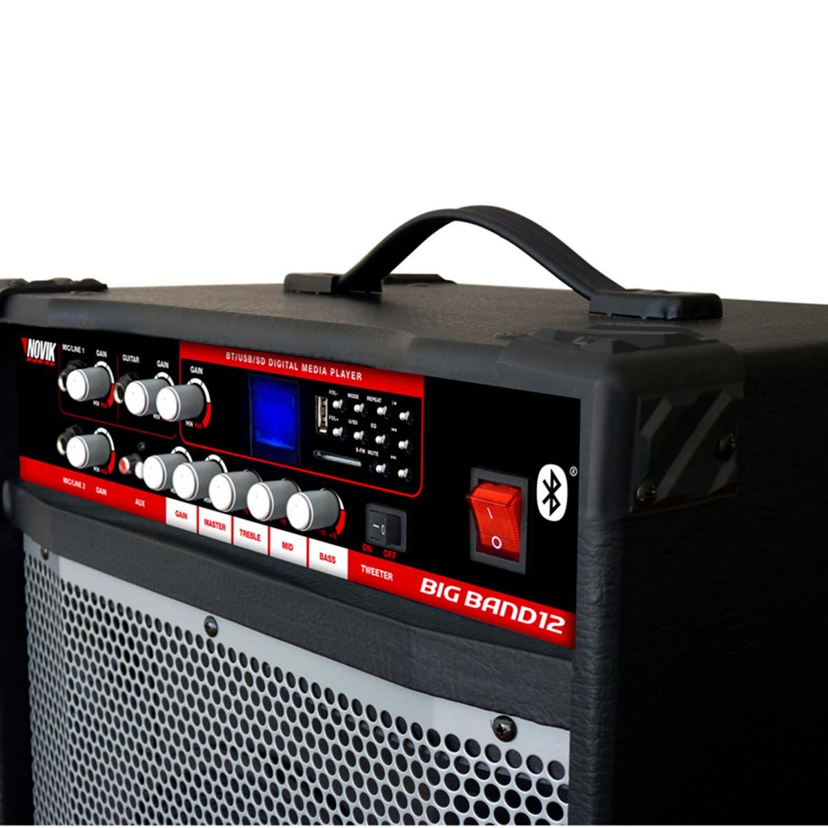 12BT - Cubo Multiuso Ativo 120W c/ Bluetooth e USB Big Band 12 BT - Novik Neo