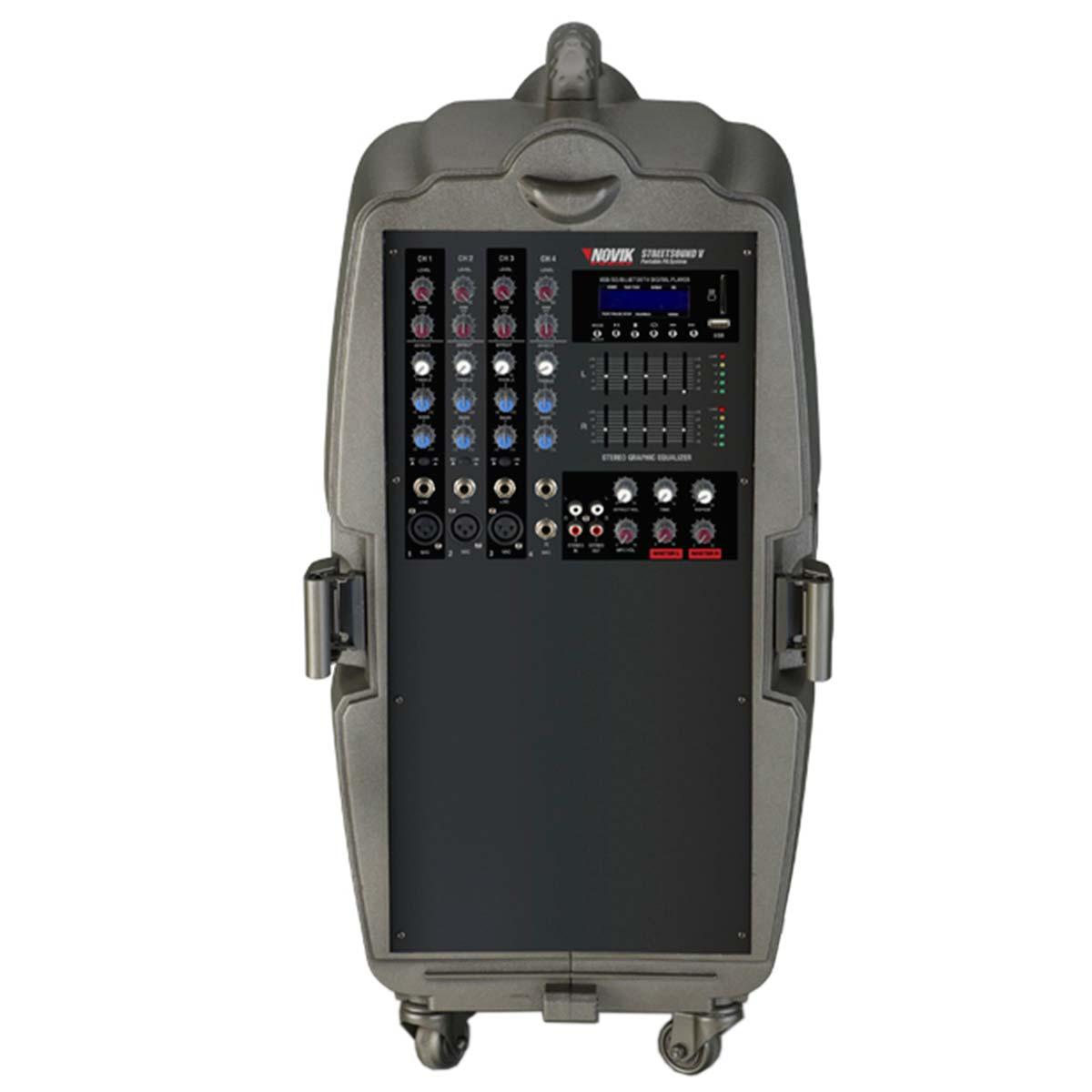 StreetSoundV - Kit Portátil c/ Mixer e 2 Caixas Street Sound V - Novik Neo