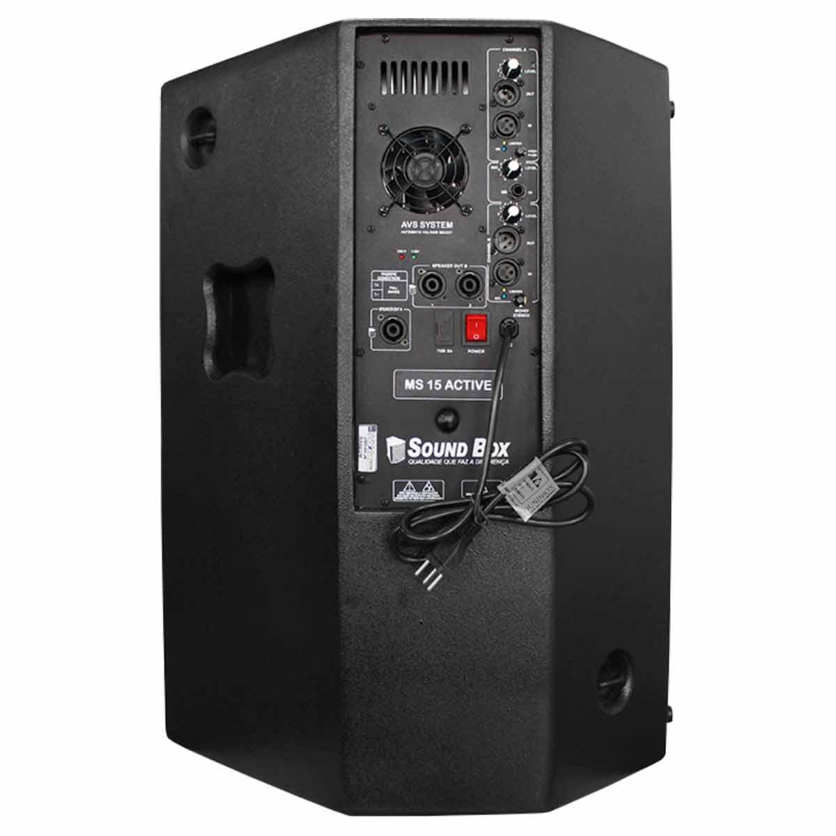 Caixa Ativa Fal 15 Pol 500W PA / Monitor / FLY - MS 15 SoundBox