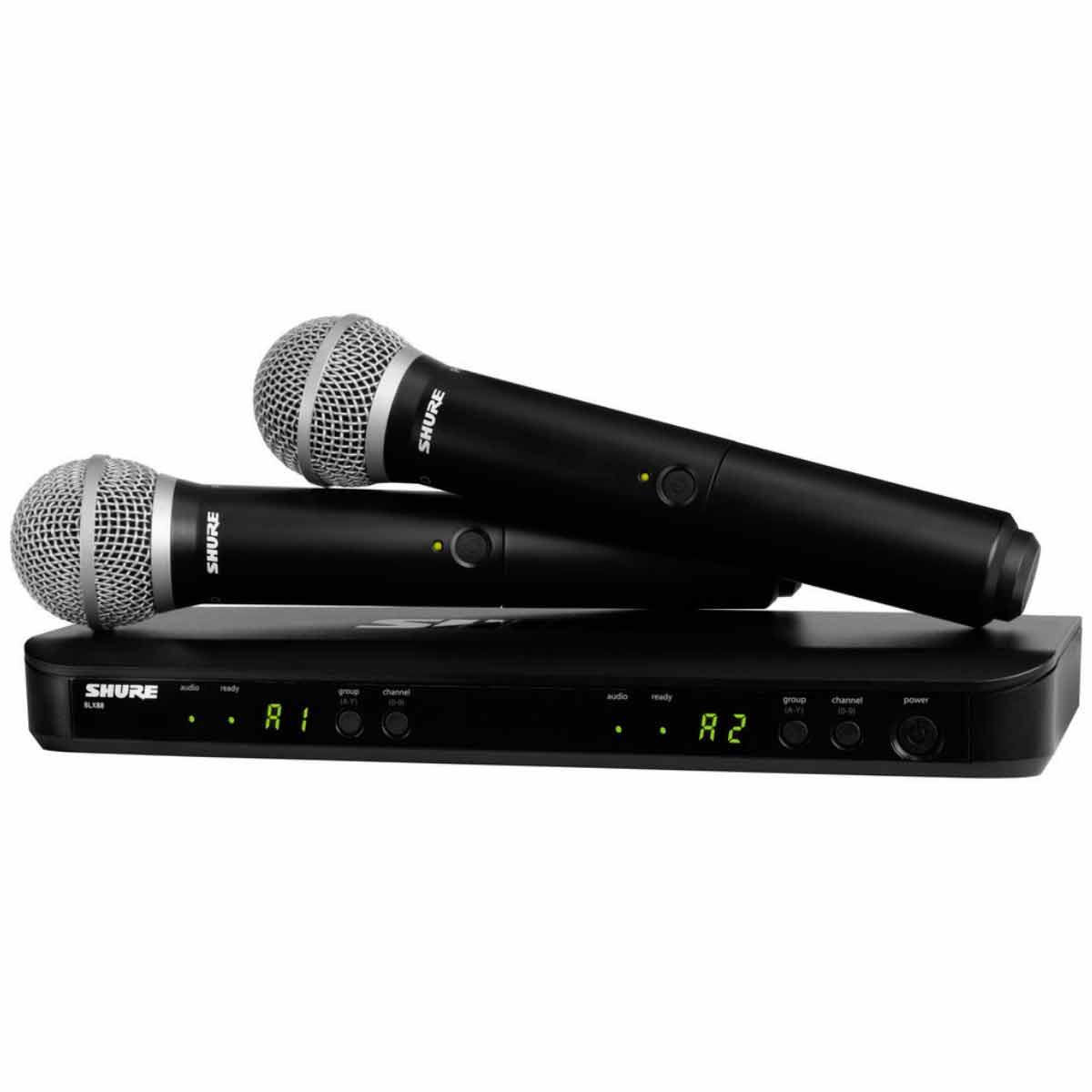 BLX288BRPG58 - Microfone s/ Fio de M�o Duplo BLX 288BR PG58 - Shure