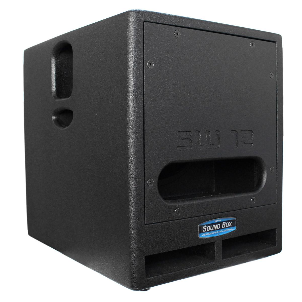 SW12 - Subwoofer Ativo 500W SW 12 Preto - SoundBox