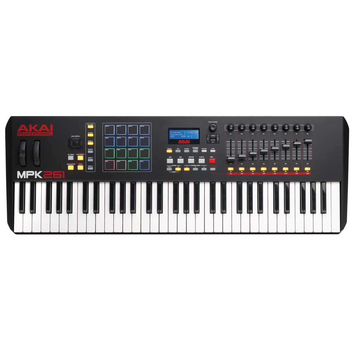 Teclado Controlador MIDI / USB MPK 261 - AKAI