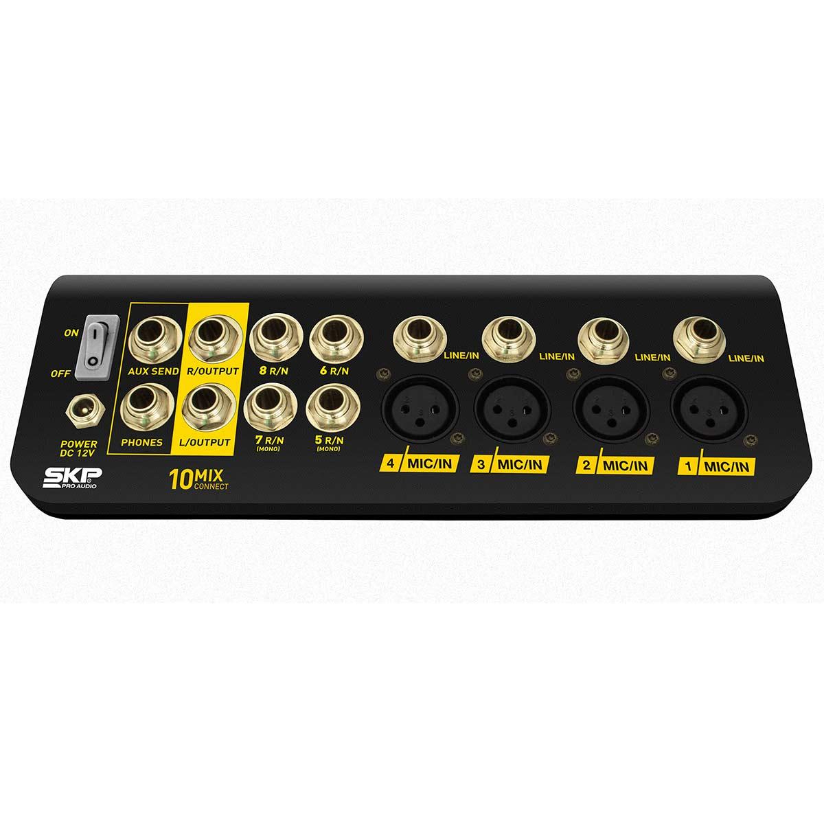 Connect 10 - Mesa de Som / Mixer Compacto 6 Canais USB Mix Connect 10 - SKP