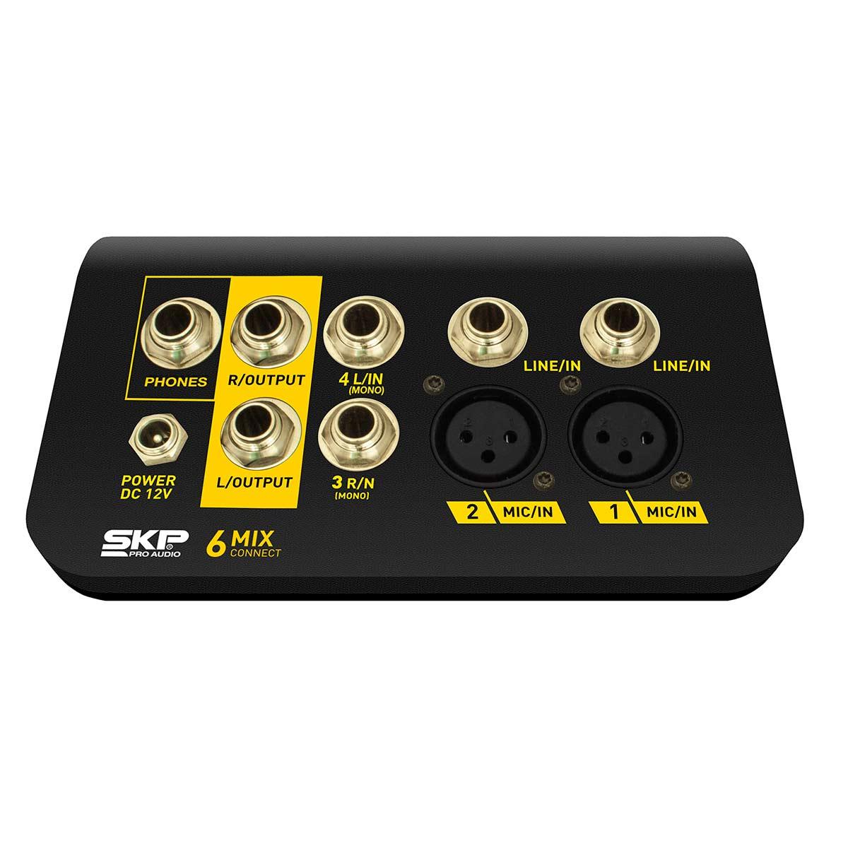 Connect6 - Mesa de Som / Mixer Compacto 3 Canais Mix Connect 6 - SKP