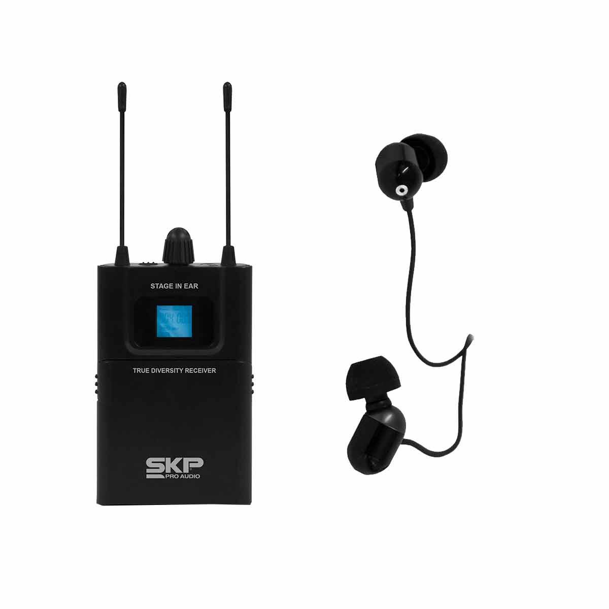 STAGEINEAR Ponto Eletrônico s/ Fio c/ Fone In-ear STAGE IN EAR - SKP
