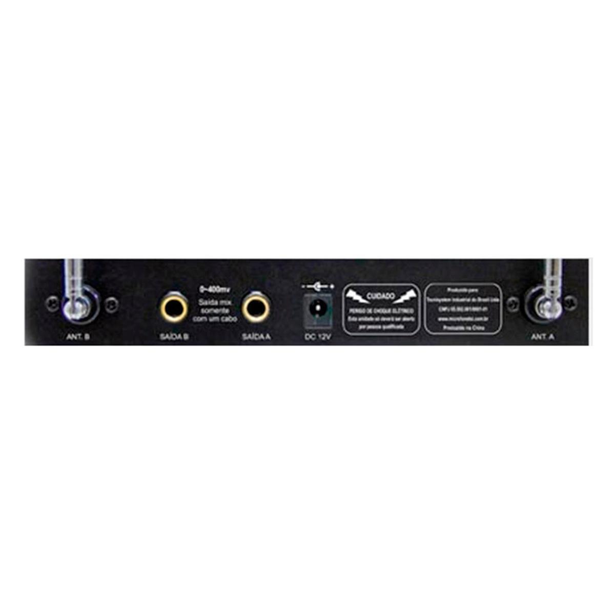 Microfone s/ Fio de Mão Duplo VHF - MS 425 TSI