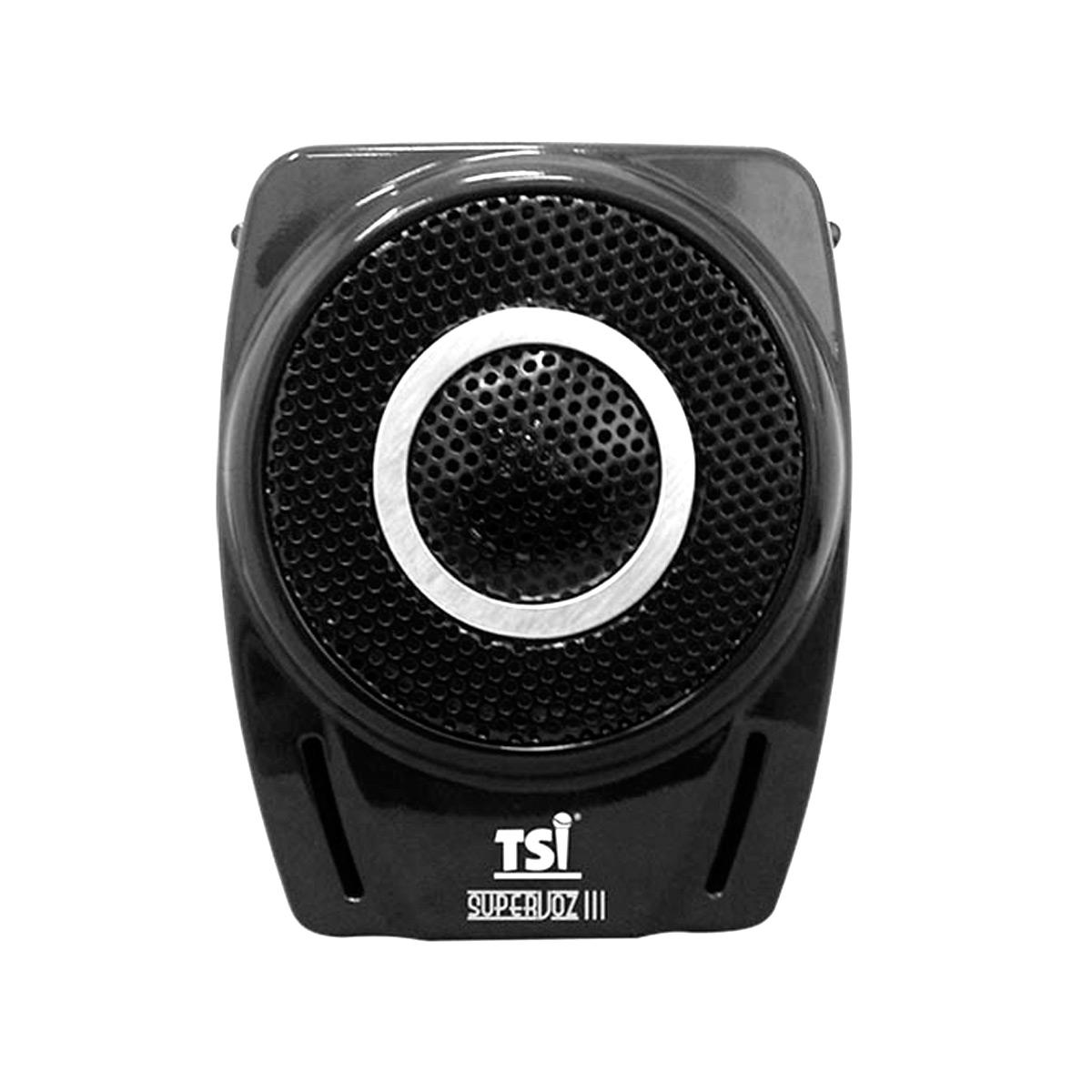 TSIE8M - Kit Professor Portátil c/ Caixa + Microfone c/ Fio Supervoz III TSI E8M - TSI