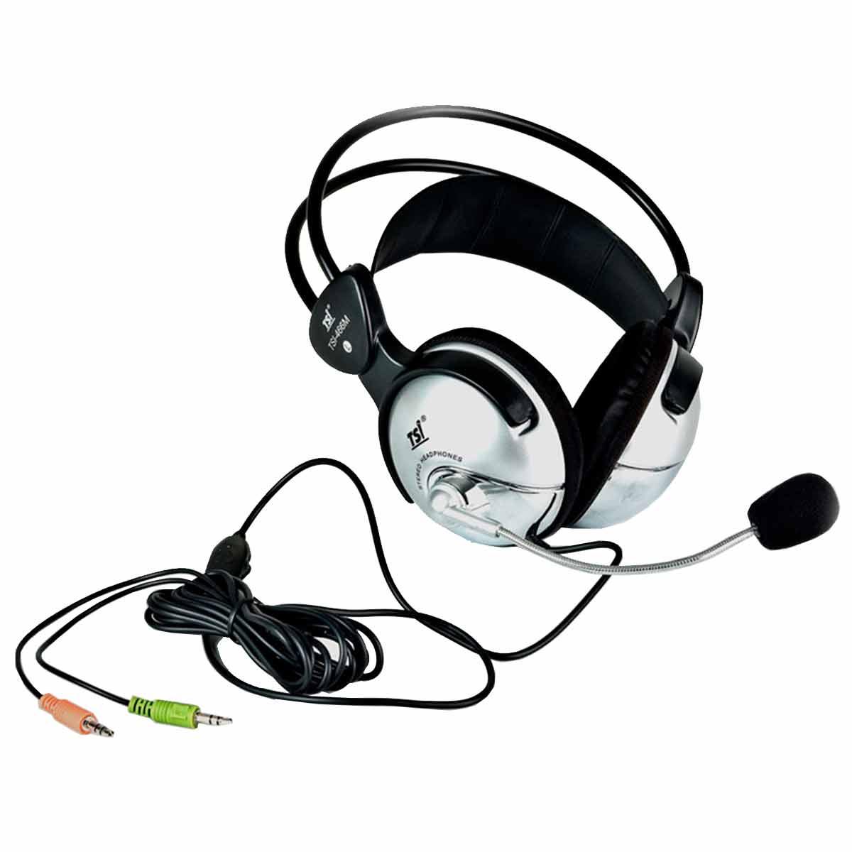 Fone de Ouvido / Headset Over-ear c/ Microfone 466 M - TSI