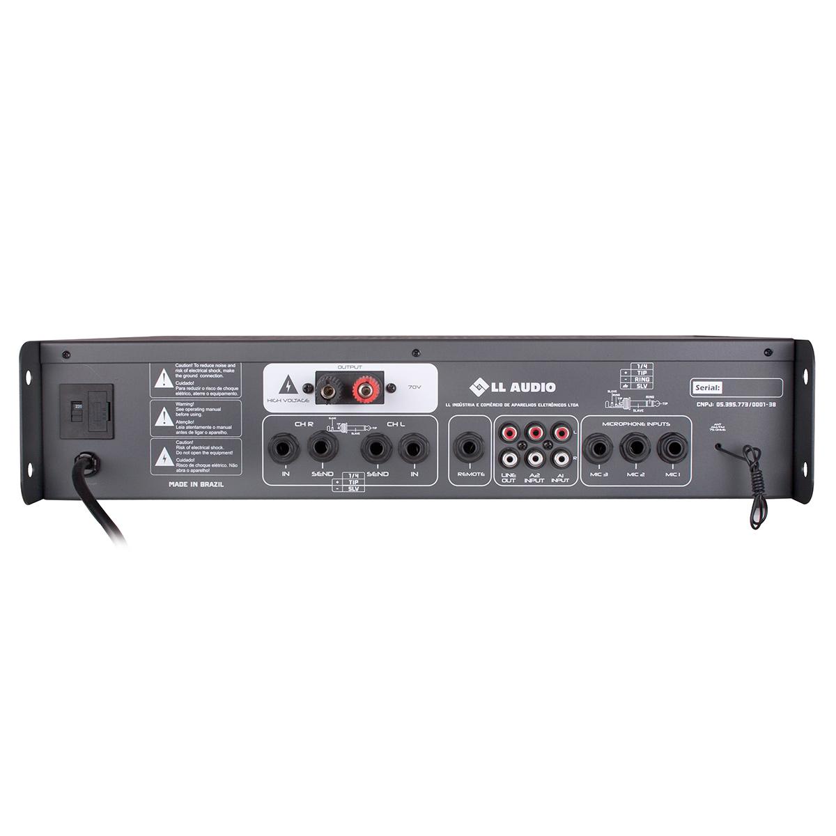 PWM70VFM - Amplificador c/ Pré Embutido e Equalizador 300W  PWM 70V FM  - NCA