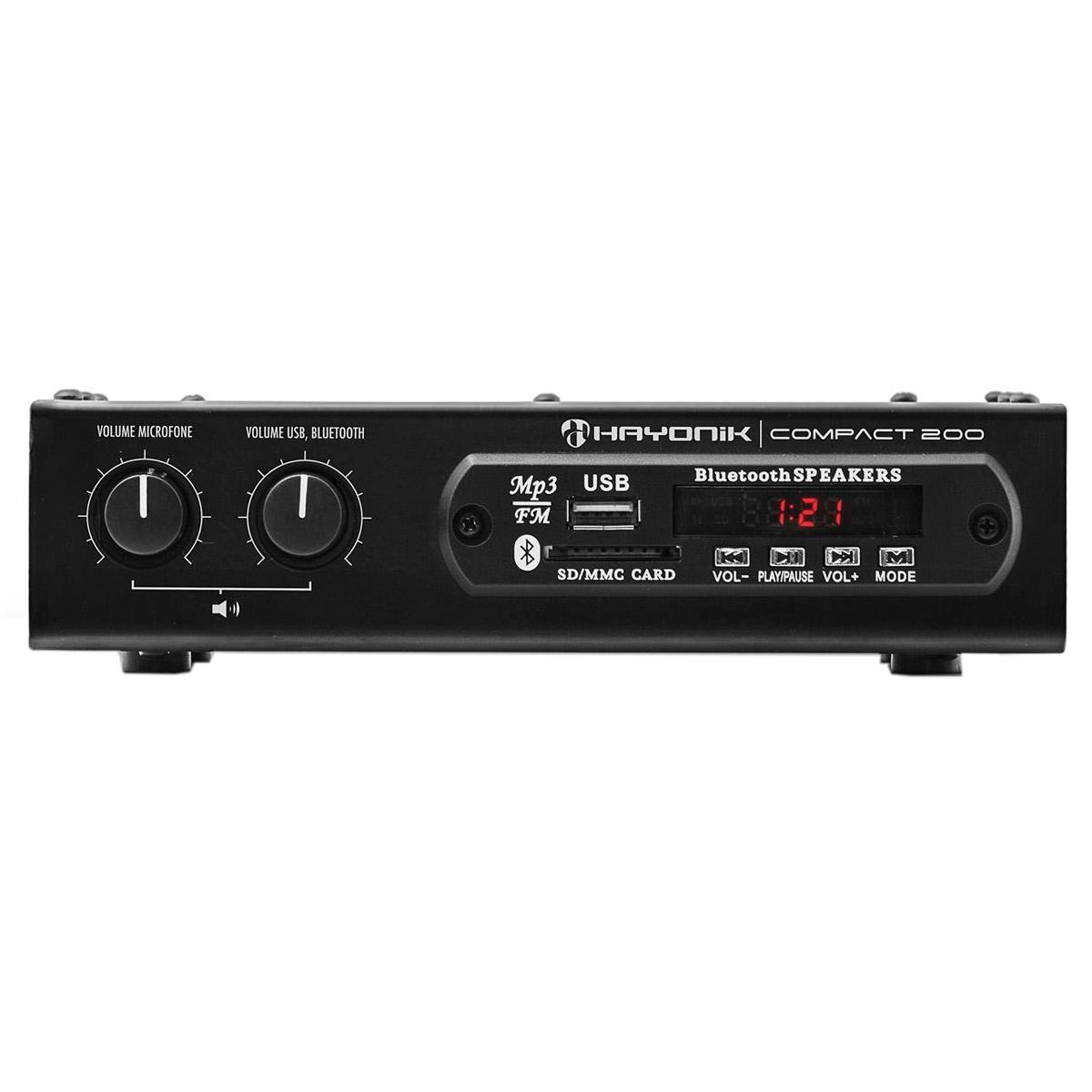 Amplificador Som Ambiente c/ Bluetooth e USB 20W Compact 200 - Hayonic