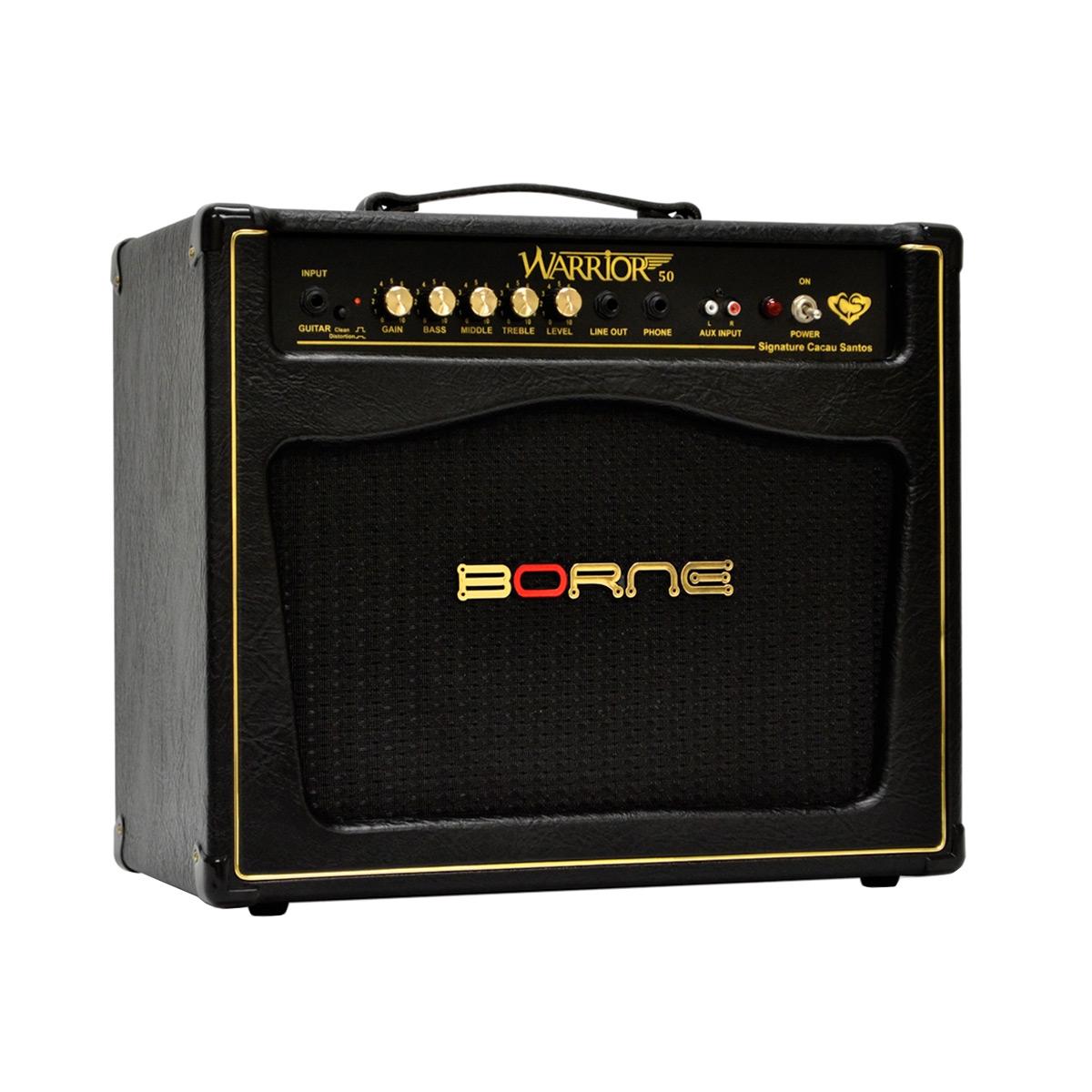 Amplificador Combo p/ Guitarra 50W Warrior 50 Preto - Borne