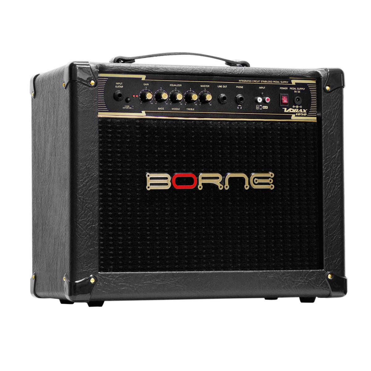 Amplificador Combo p/ Guitarra 50W Vorax 1050 Preto - Borne