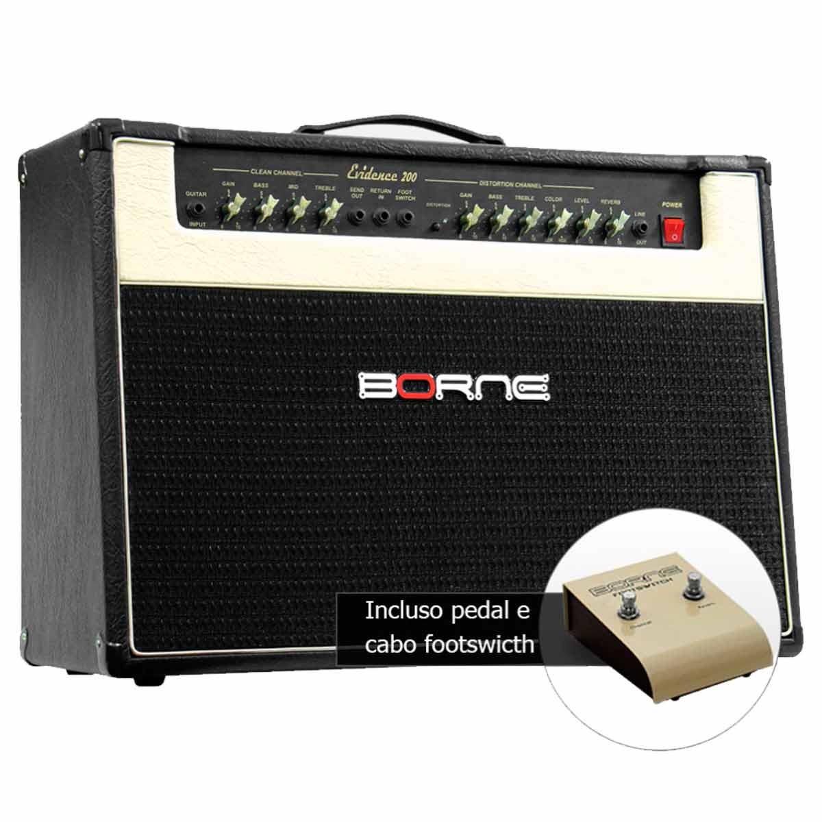 Evidence200 - Amplificador Combo p/ Guitarra 150W Evidence 200 Preto - Borne