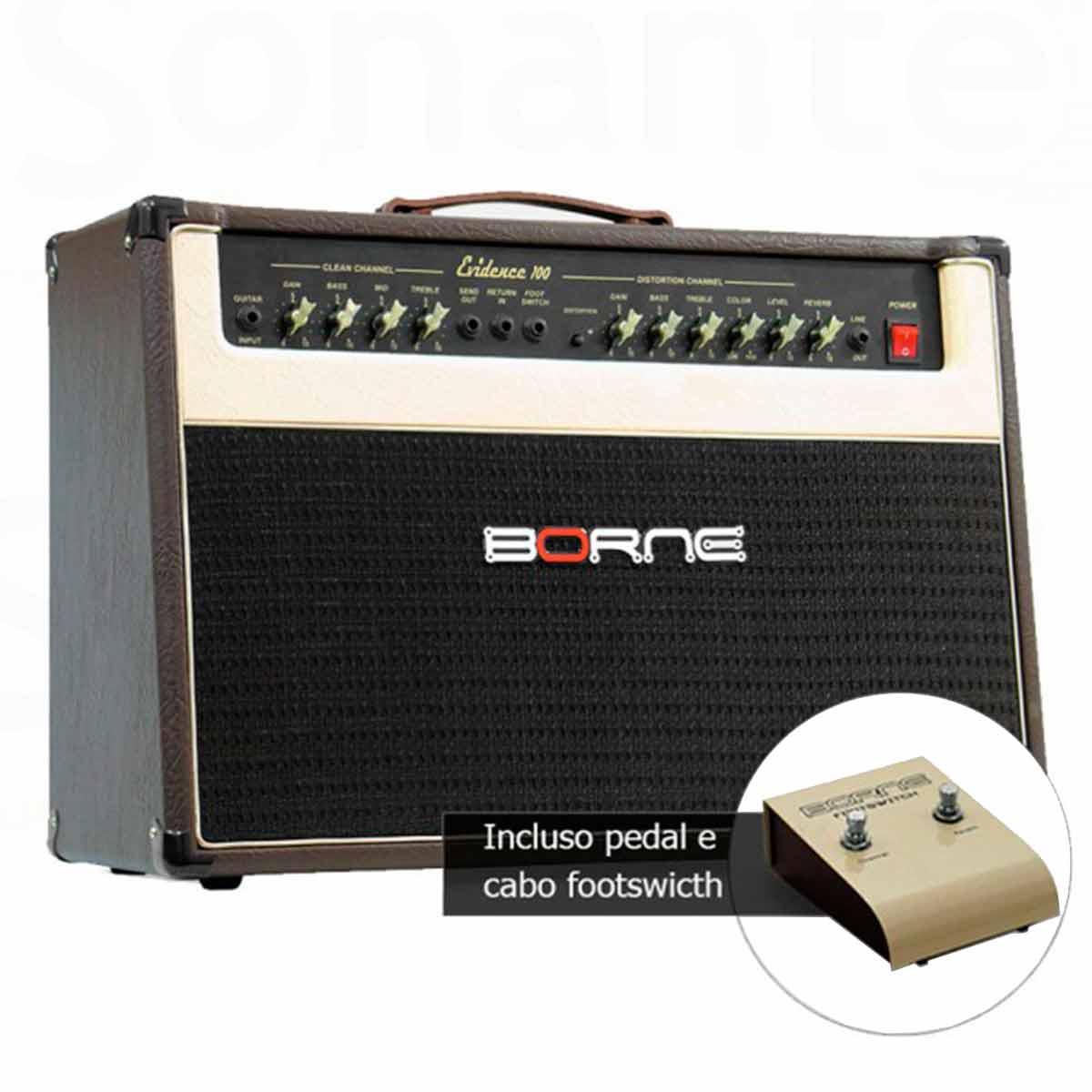Evidence200 - Amplificador Combo p/ Guitarra 150W Evidence 200 Marrom - Borne
