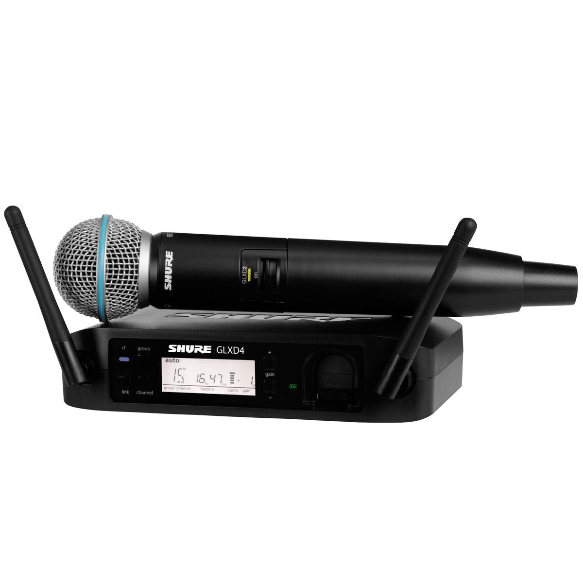 GLXD24BRB58 - Microfone s/ Fio de M�o GLXD 24BR B58 - Shure