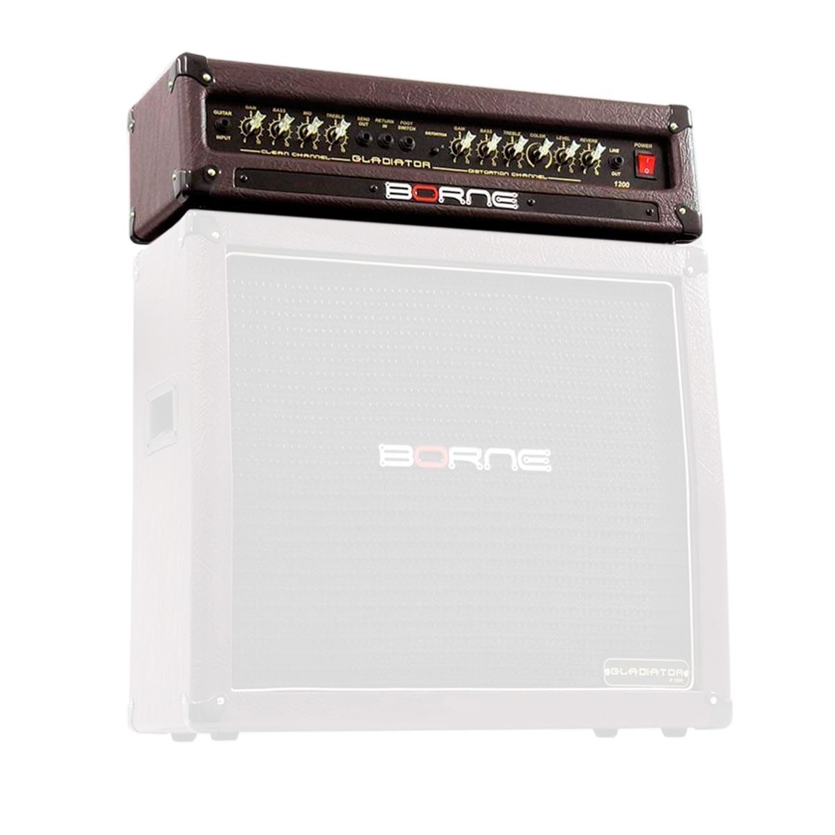 Gladiator1200 - Cabeçote p/ Guitarra 100W Gladiator 1200 Marrom - Borne
