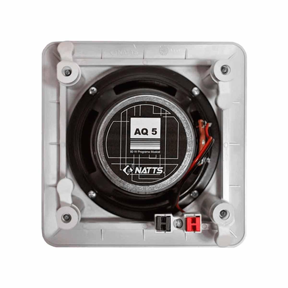 AQ5C - Arandela Coaxial Quadrada 40W AQ 5C - Natts