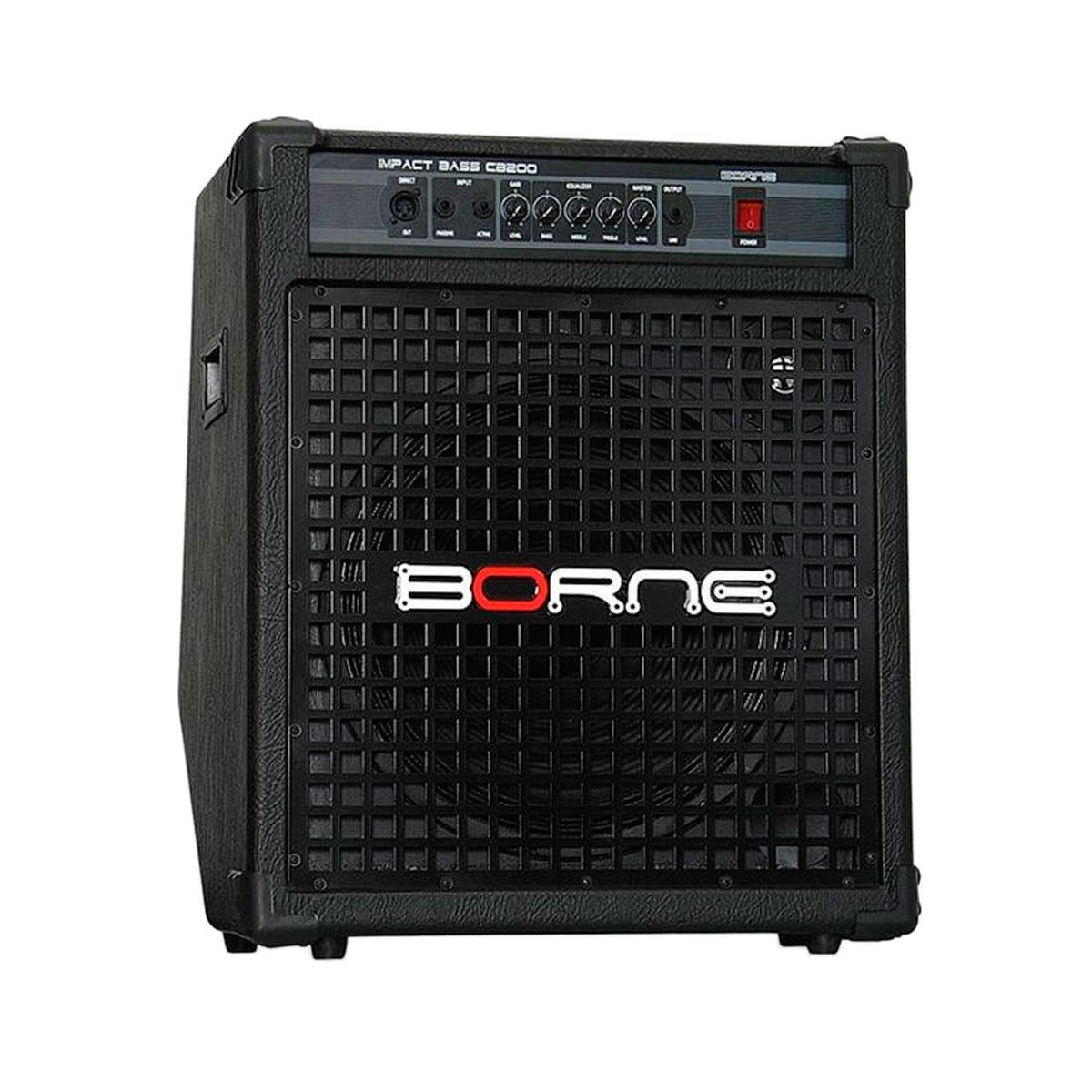 CB200 - Amplificador Combo p/ Contrabaixo 200W Impact Bass CB 200 - Borne
