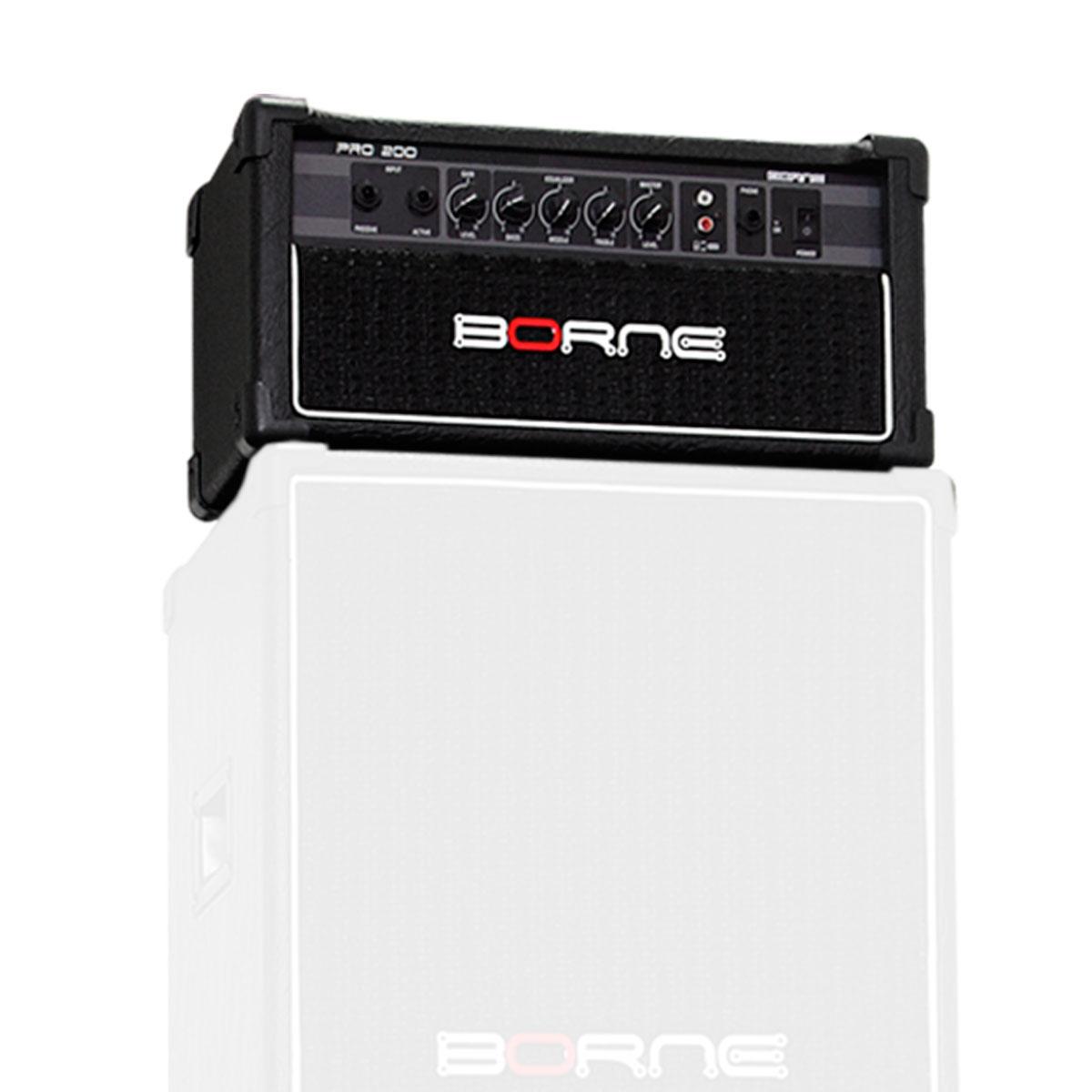 PRO200 - Cabe�ote p/ Contrabaixo 100W PRO 200 - Borne