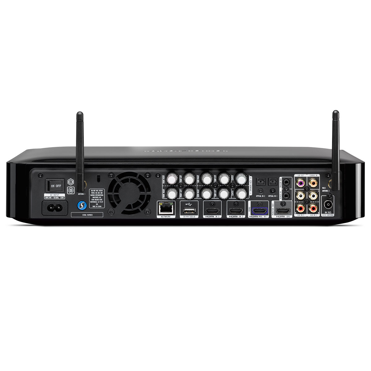 Receiver 5.1 Canais 3 HDMI c/ BLU RAY 3D, Wi-Fi  e Bluetooth BDS 580 BQ - Kardon