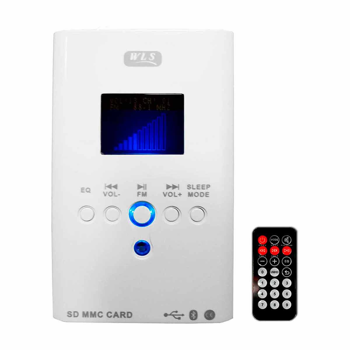 Amplificador Som Ambiente 30W c/ Bluetooth e USB 220V Multim�dia Wall Player - WLS