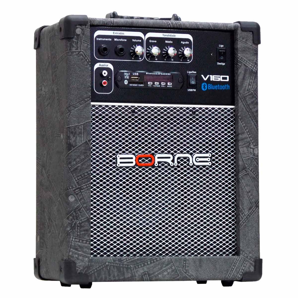 Cubo Multiuso 40W c/ Bluetooth e USB Multimídia V 160 BT Jeans - Borne
