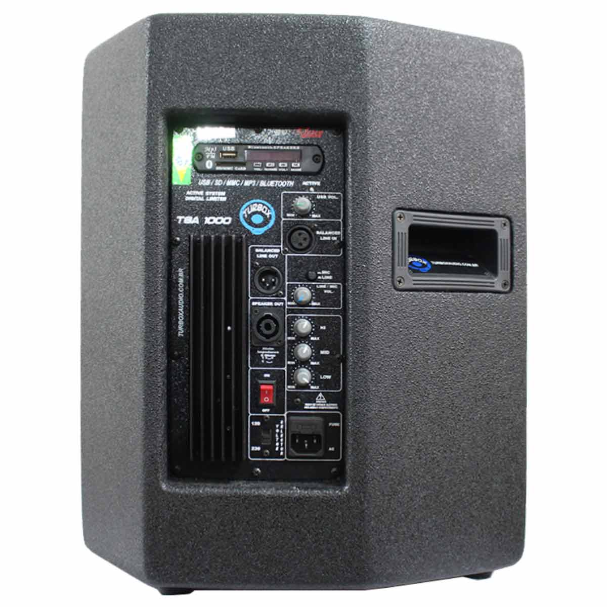 Caixa Ativa 150W c/ Bluetooth e USB TBA 1000 - Turbox