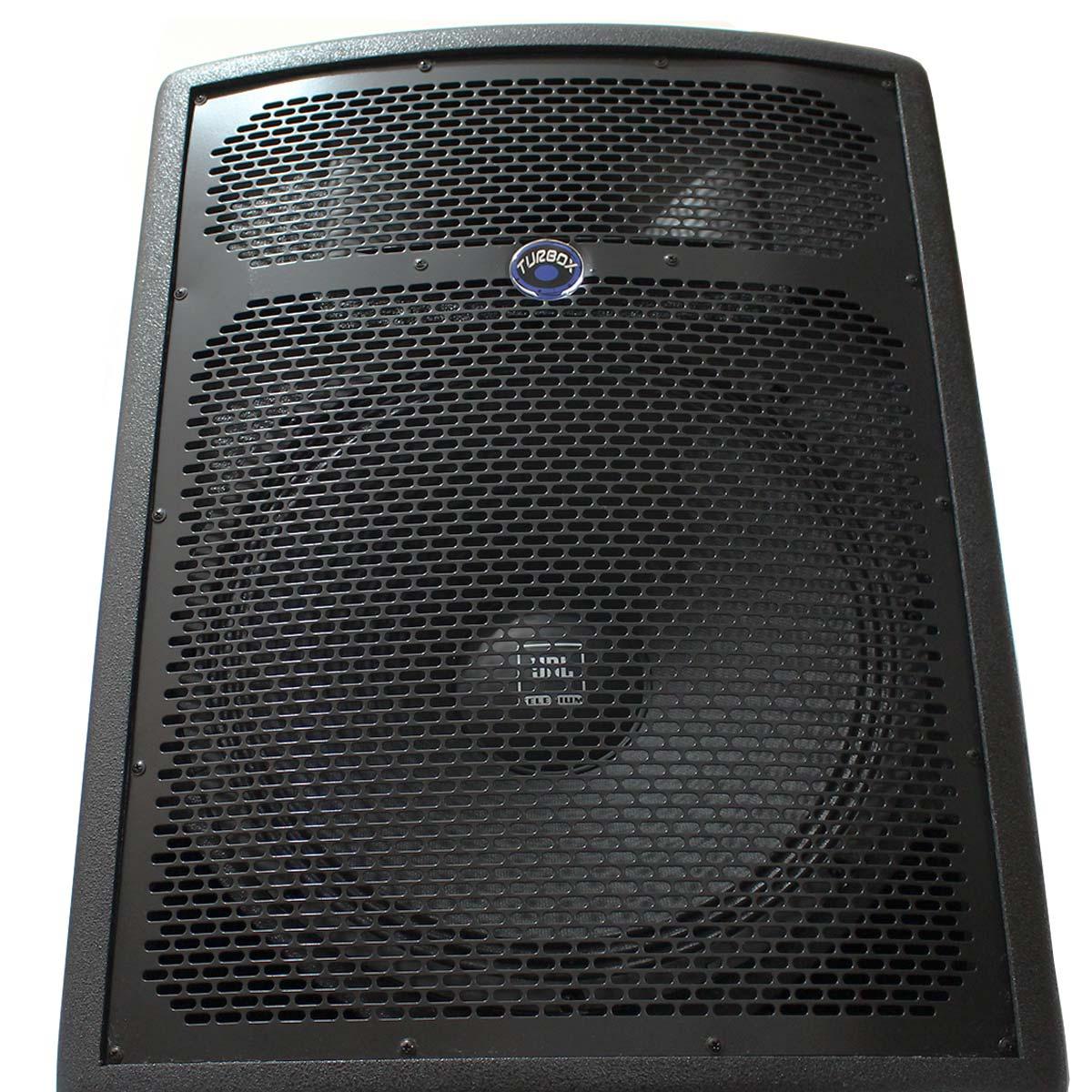Caixa Ativa 250W c/ Bluetooth e USB TBA 1200 - Turbox