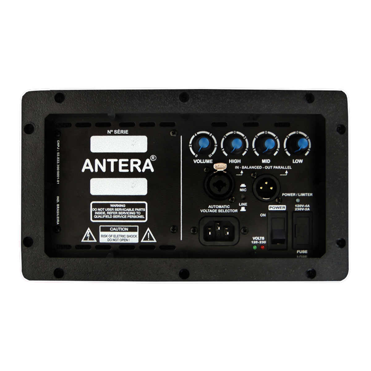 MR15A - Monitor Ativo 200W Preto MR 15 A - Antera