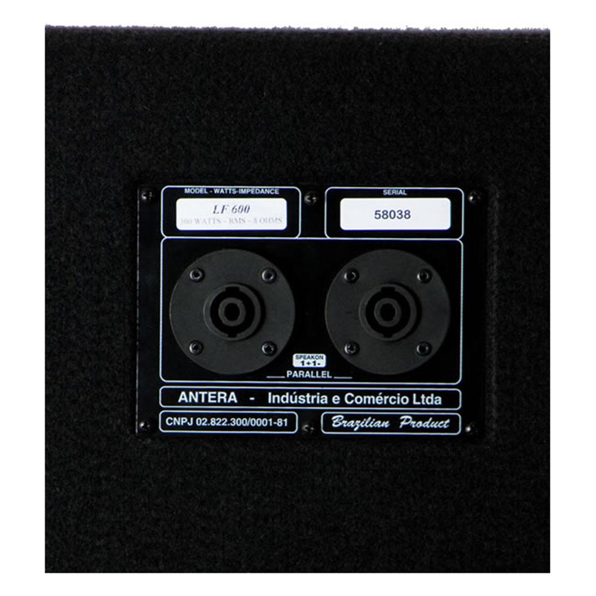 LF600 - Subwoofer Passivo 300W Preto LF 600 - Antera