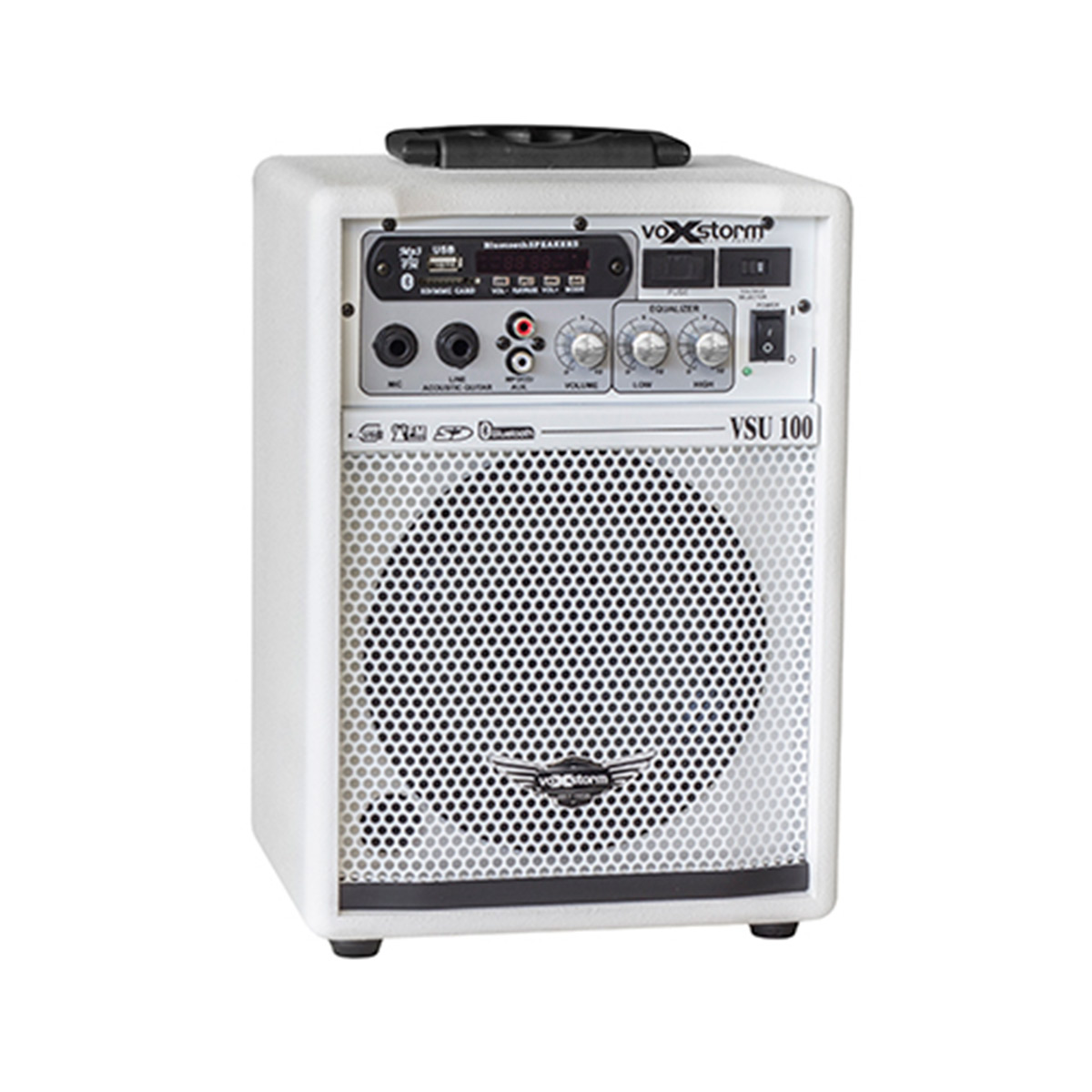 VSU100 - Cubo Multiuso Ativo 15W c/ Bluetooth e USB VSU 100 Branco - Voxstorm