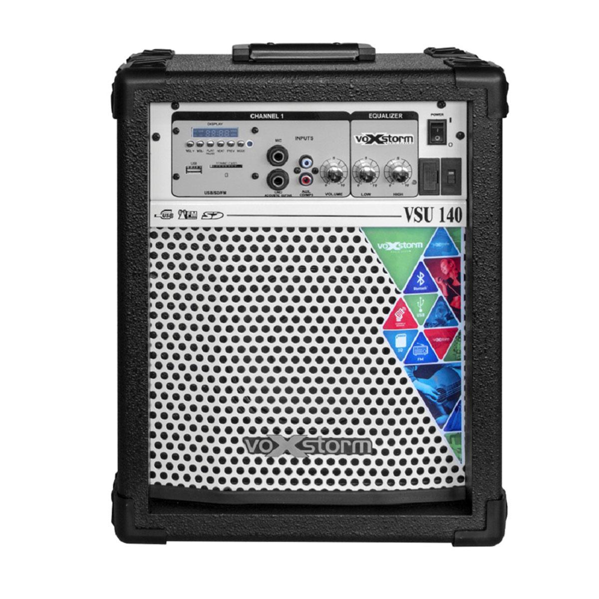 VSU140 - Cubo Multiuso Ativo 20W c/ Bluetooth e USB VSU 140 Preto - Voxstorm