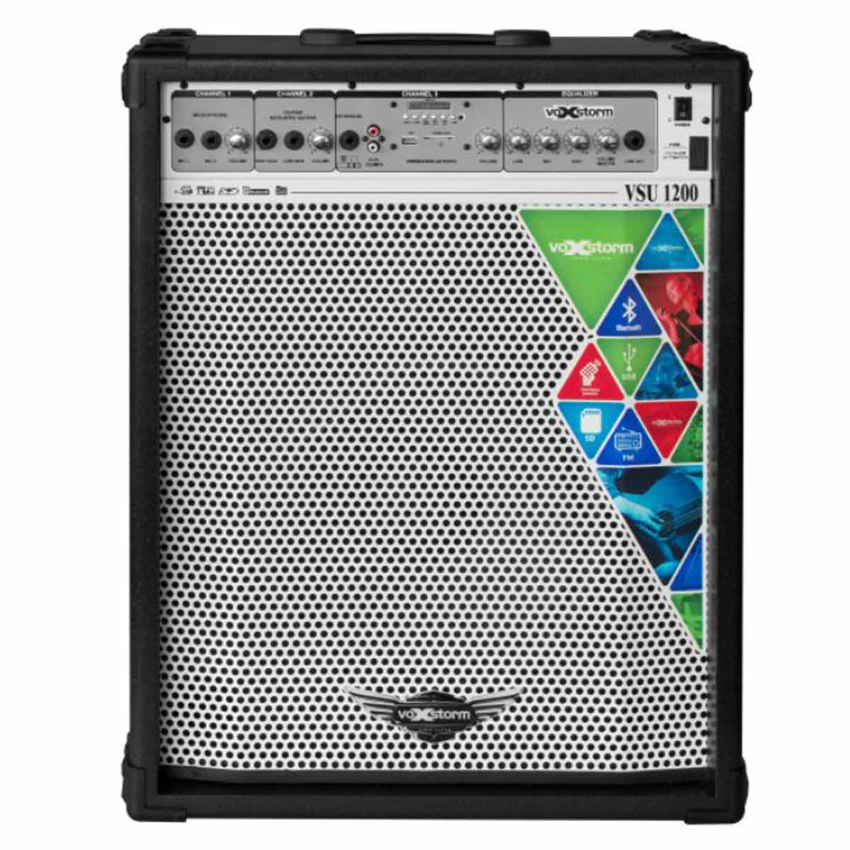 VSU1200 - Cubo Multiuso Ativo 100W c/ Bluetooth e USB VSU 1200 Preto - Voxstorm