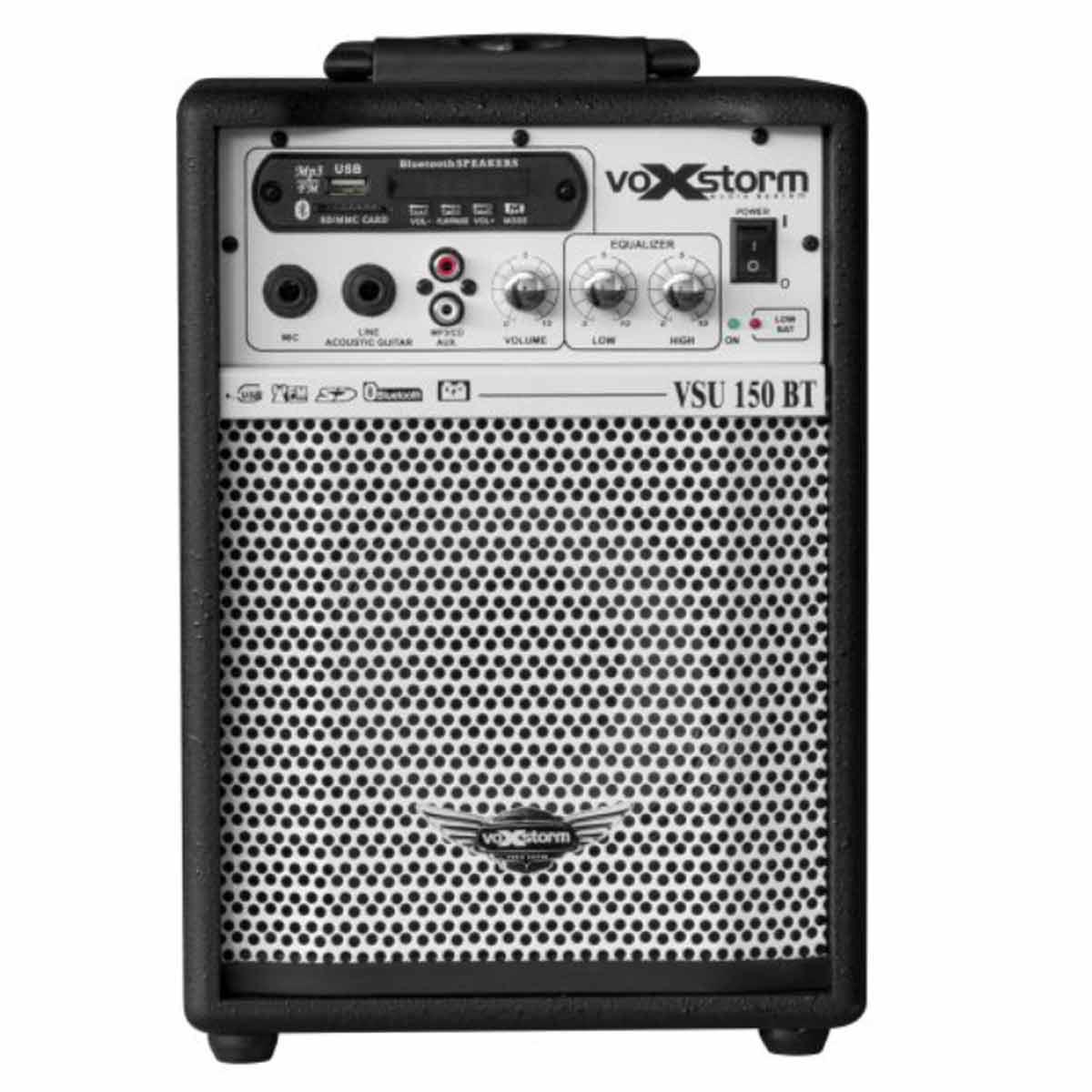 VSU150BT - Cubo Multiuso Ativo 15W c/ Bateria Interna, Bluetooth e USB VSU 150 BT Preto - Voxstorm