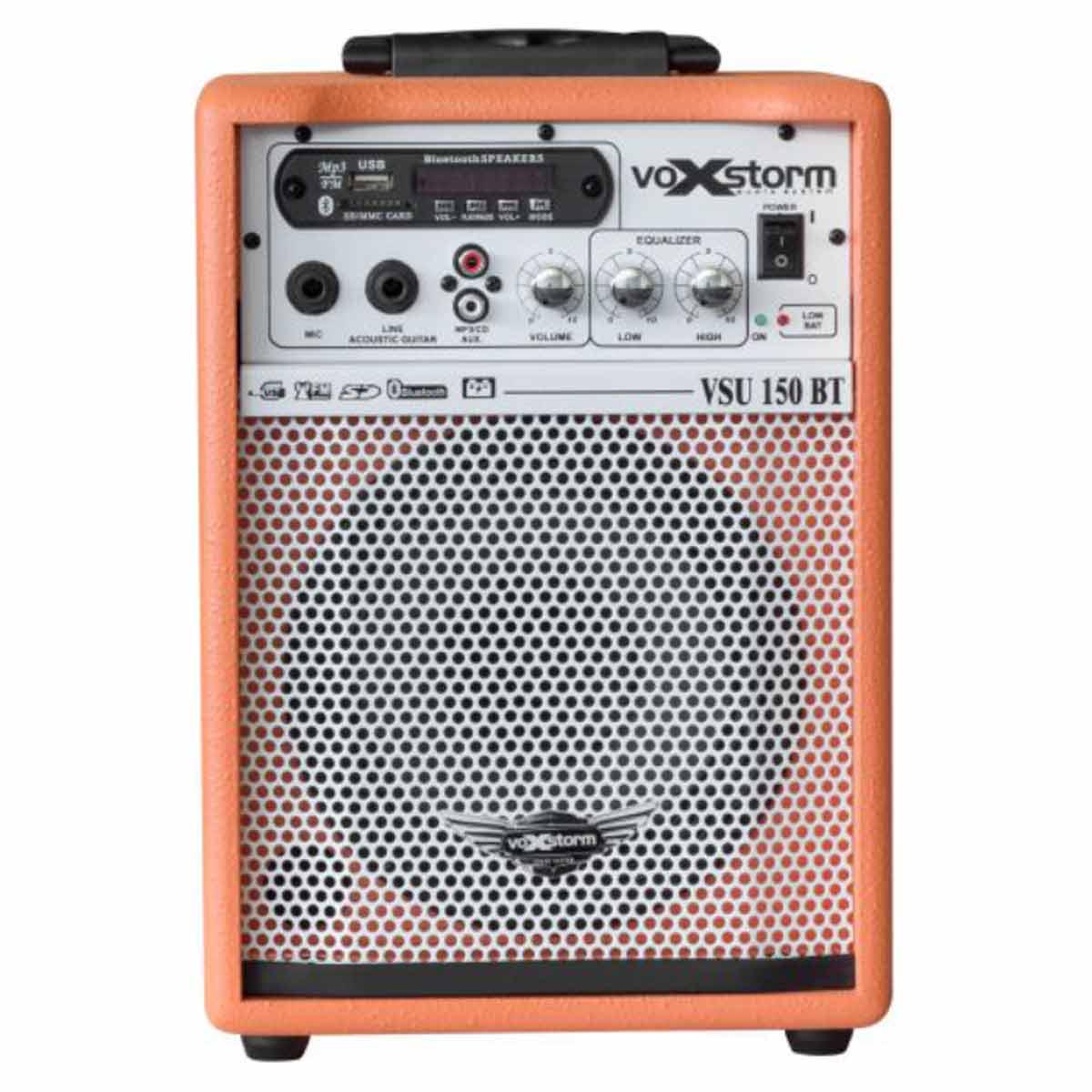 VSU150BT - Cubo Multiuso Ativo 15W c/ Bateria Interna, Bluetooth e USB VSU 150 BT Laranja - Voxstorm
