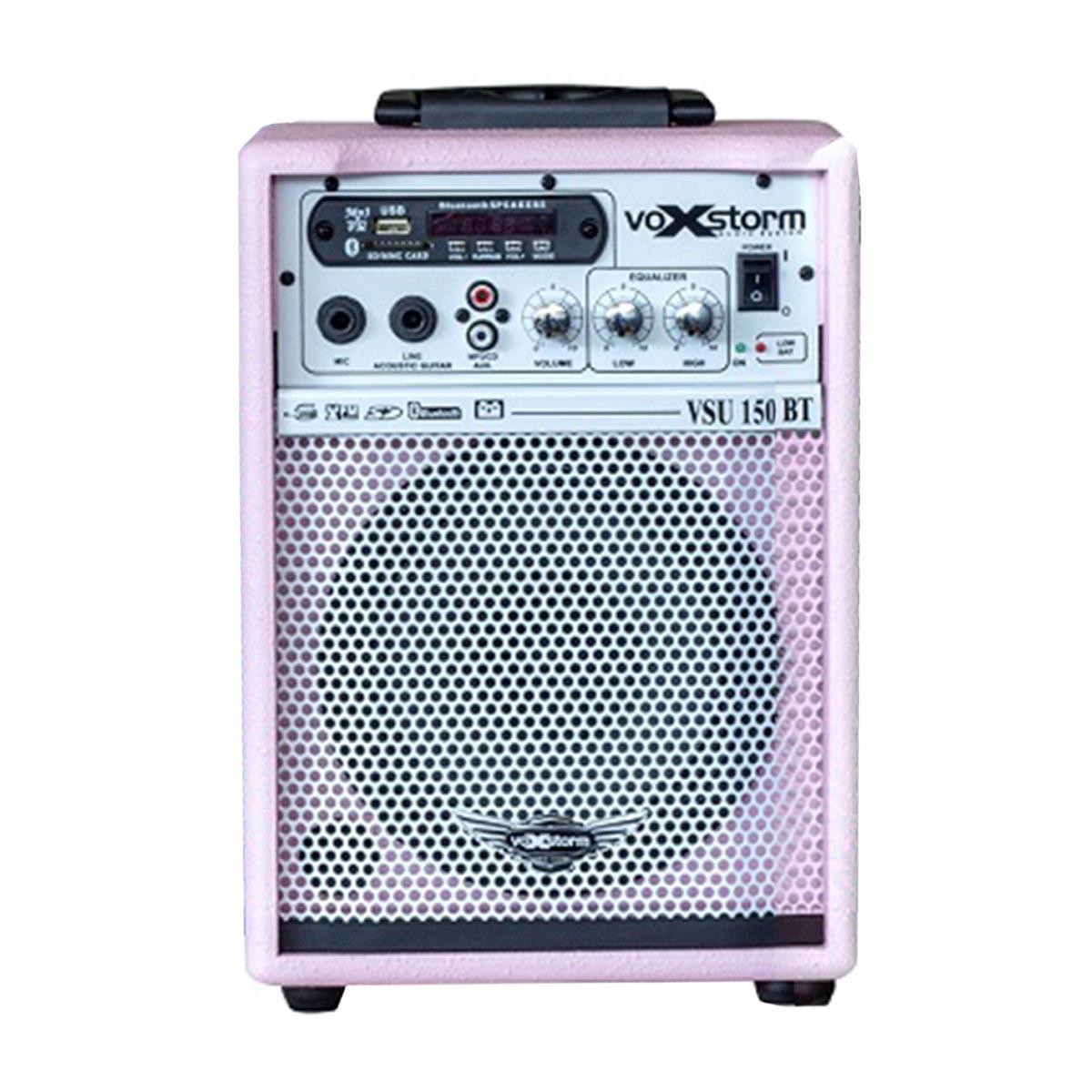 VSU150BT - Cubo Multiuso Ativo 15W c/ Bateria Interna, Bluetooth e USB VSU 150 BT Rosa - Voxstorm