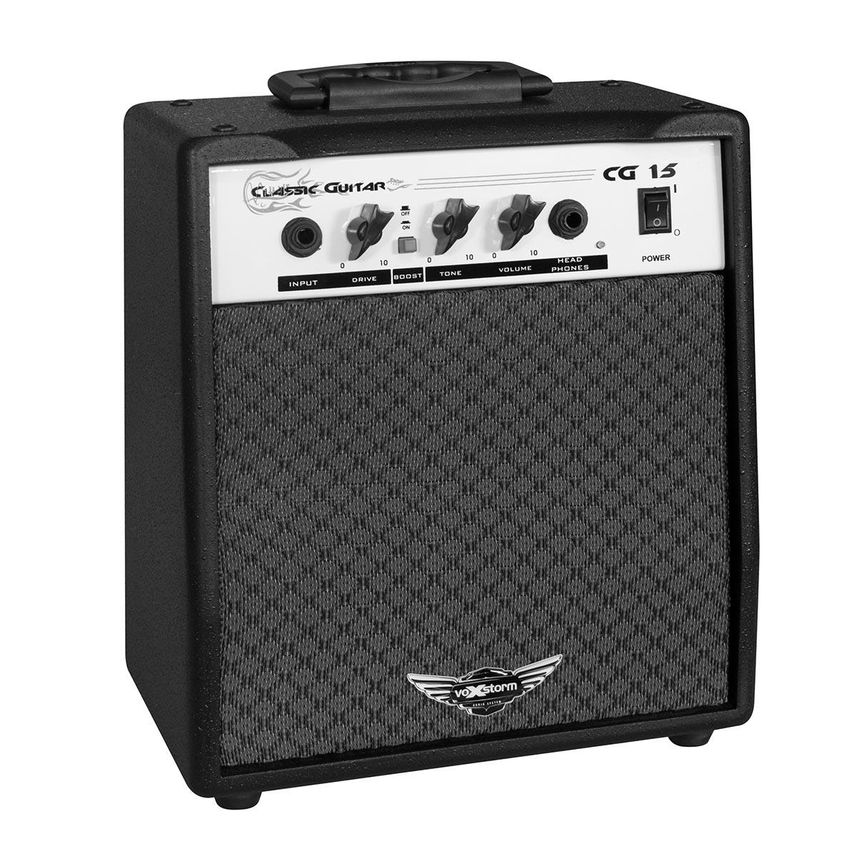 CG15 - Amplificador Combo p/ Guitarra 15W Classic Guitar CG 15 Preto - Voxstorm